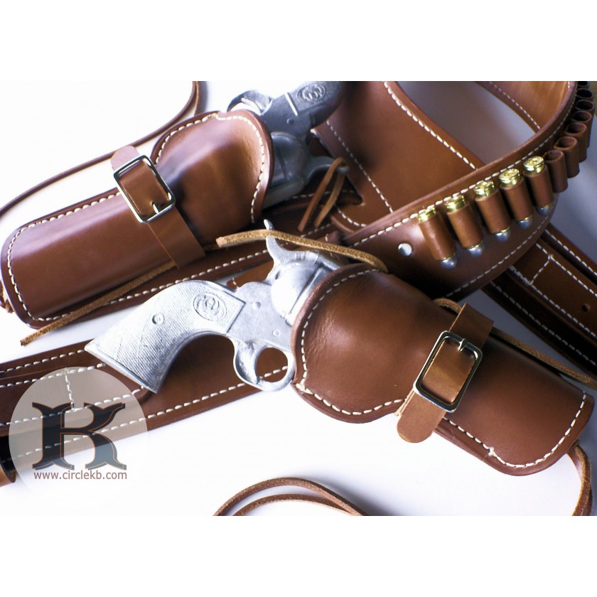 A1 QuickDraw CrossDraw Western Gunfighters Holster and Gun