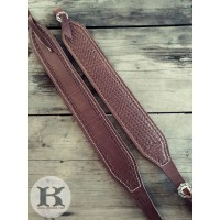 Custom Padded Leather Rifle Sling - Elk Hide Lined